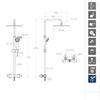 Душевая система с термостатом и тропическим душем для ванны URBAN CHIC 215401RK300N - фото №2