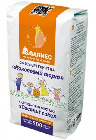 Смесь Гарнец Кокосовый торт б/глютен 500г