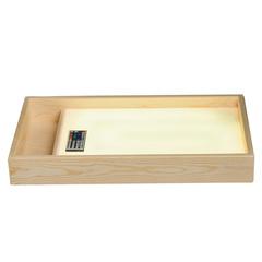 Стол для рисования песком с отсеком для песка и цветной подсветкой (желтый)