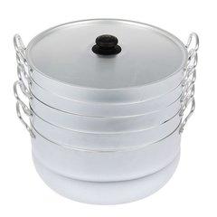 Мантоварка алюминиевая 13 литров с 4 сетками  диаметр 34 см до 5,4 кг Манты-Казан Калитва 18134