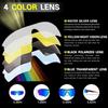 Очки солнцезащитные XQ515, (черно-синие / дымчатые) +3 доп. линзы