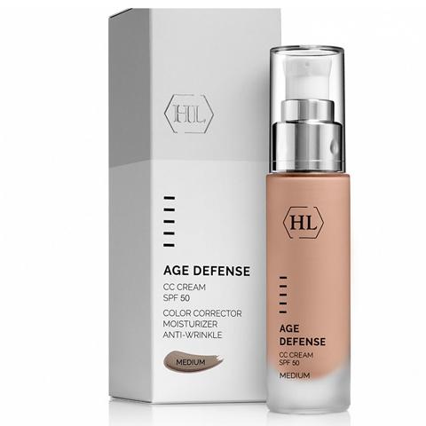 Holy Land Age Defense: Корректирующий крем для лица, натуральный оттенок (CC Cream Medium SPF50)