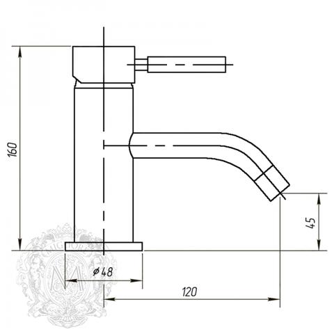 Смеситель для раковины Migliore Fortis ML.FRT-5313 схема
