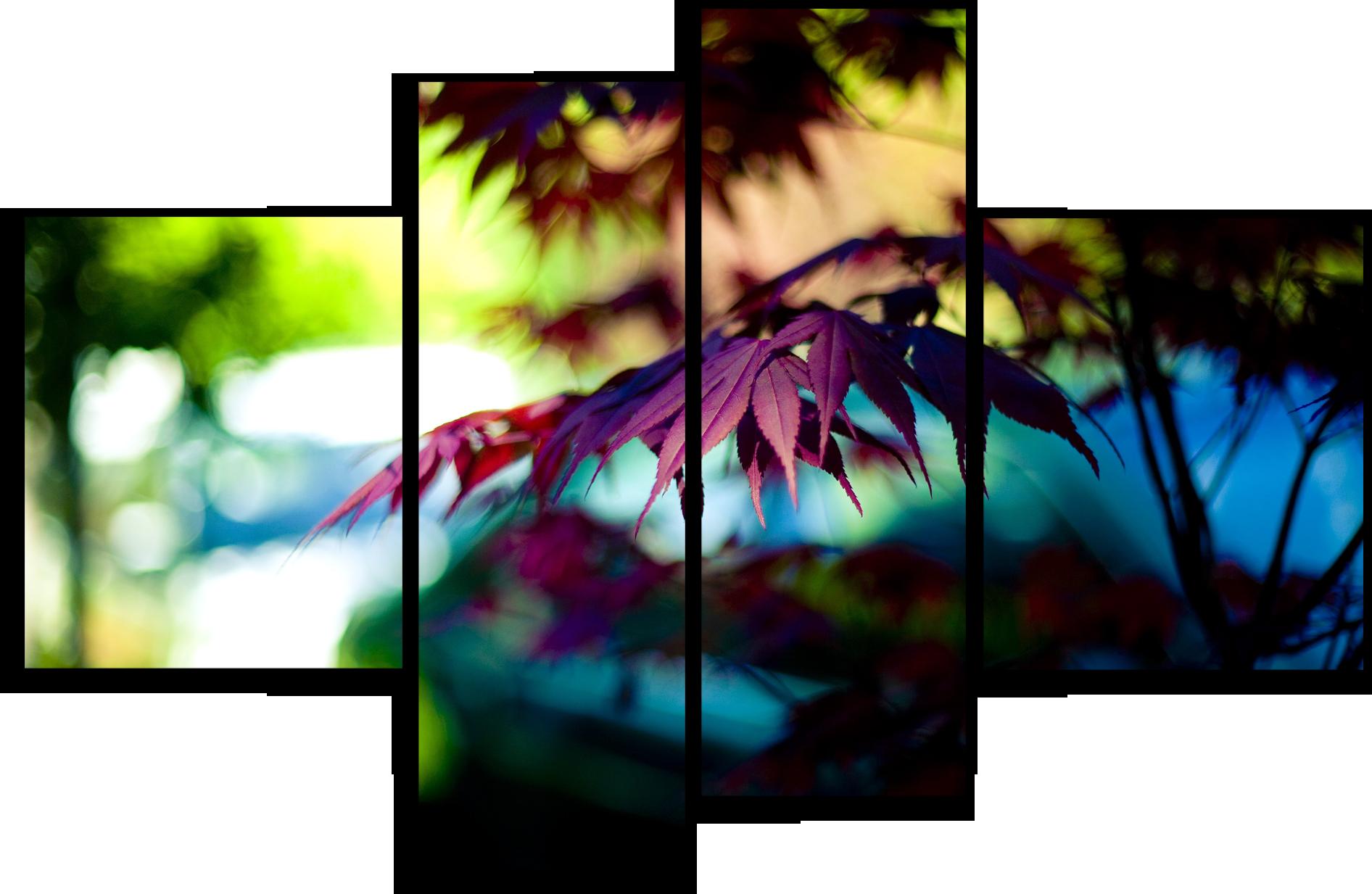 """Природа Модульная картина """"Листья рябины"""" М718.png"""