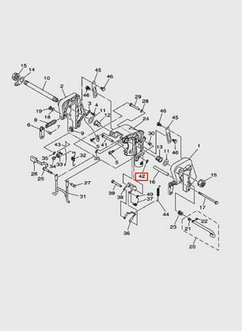 Кольцо стопорное  для лодочного мотора T15, OTH 9,9 SEA-PRO (13-42)