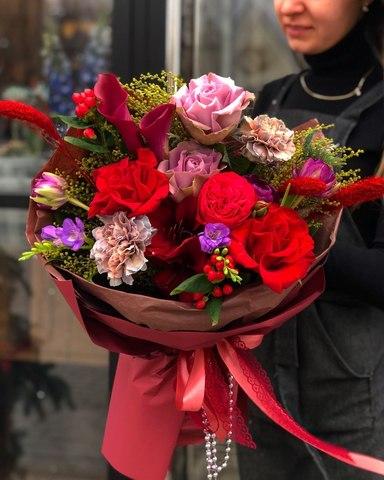 Букет с розами Торжество #156342