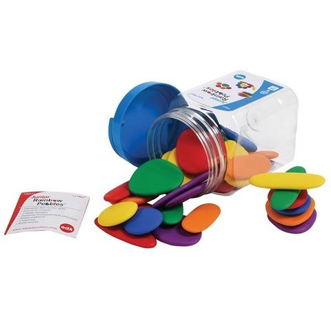 Игровой набор Junior Радужные камешки контейнер Edx education 13227J