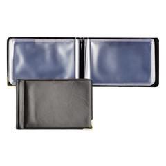 Визитница карманная Koh-I-Noor Gama на 40 визиток из искусственной кожи черного цвета (372007)