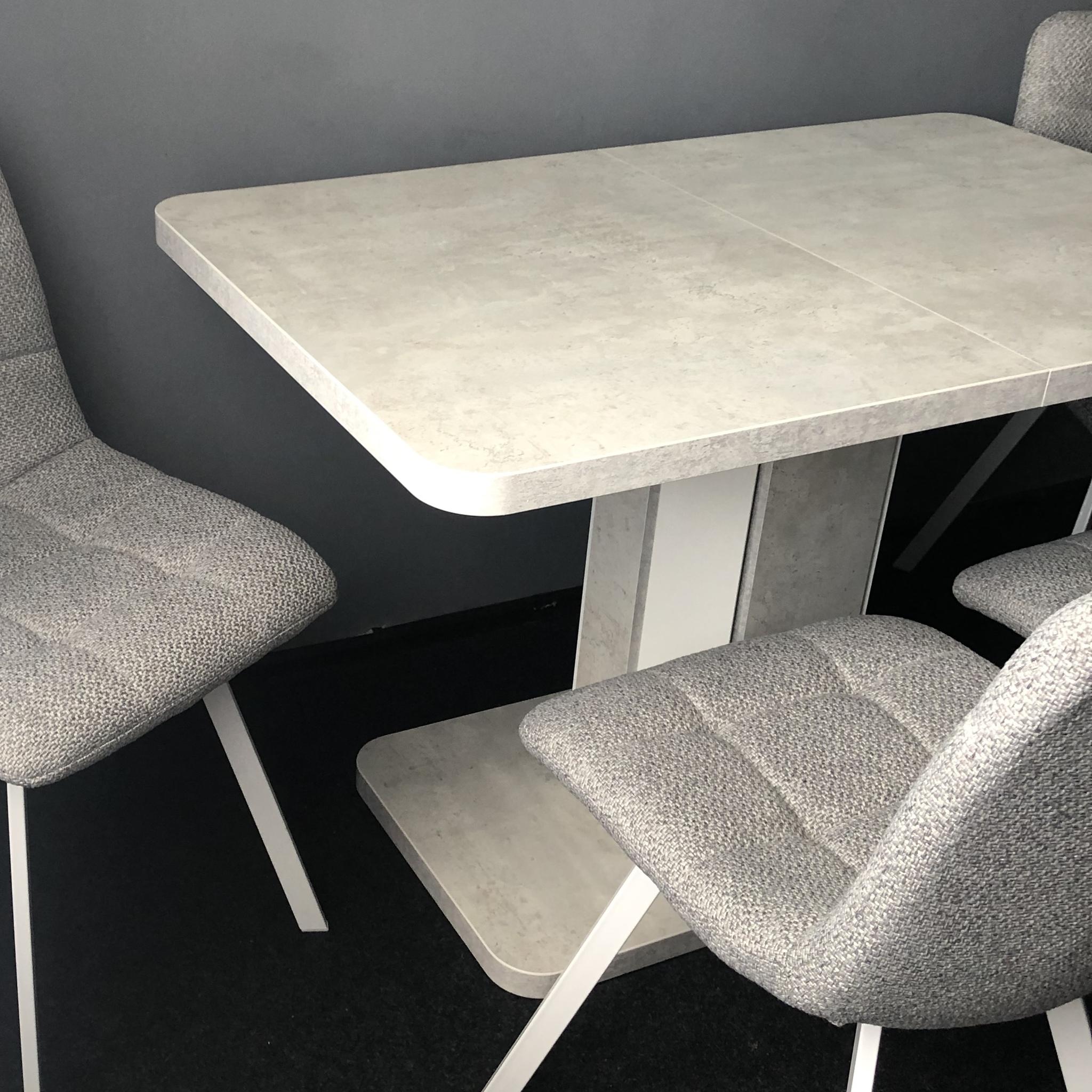 Стол бетон белый тиснений бетон
