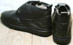 Зимние ботинки мужские кожаные с мехом Rifellini Rovigo C8208 Black