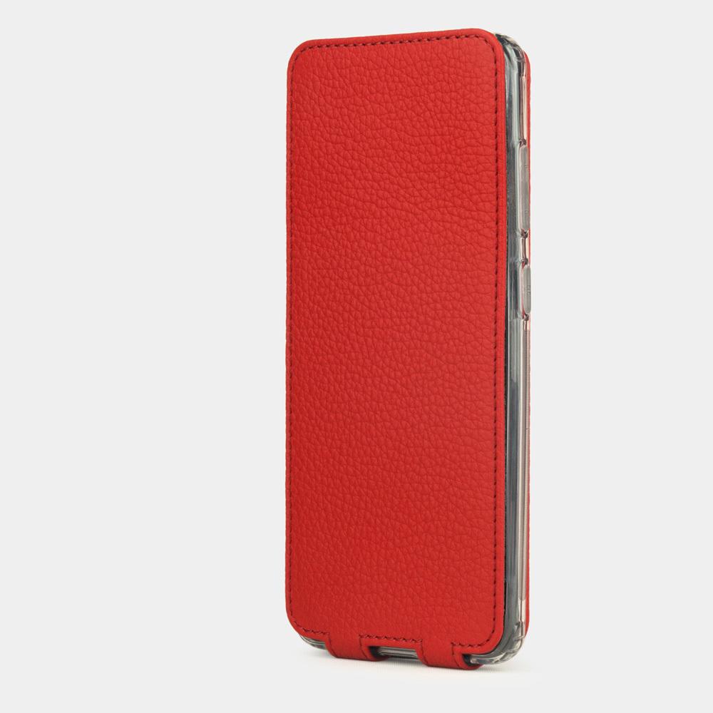 Чехол для Samsung Galaxy S20+ из натуральной кожи теленка, красного цвета