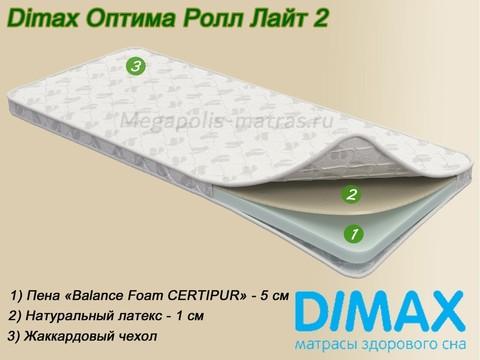 Матрас Dimax Оптима Ролл Лайт 2 с описание от Мегаполис-матрас