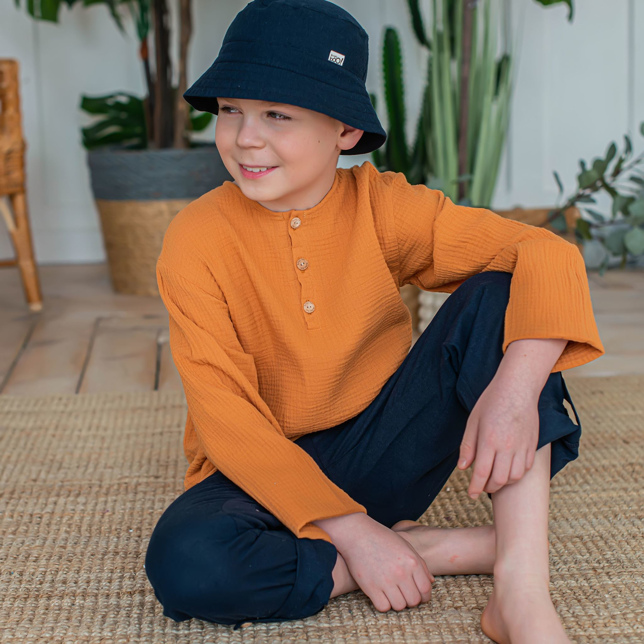 Muslin shirt for teens - Nut