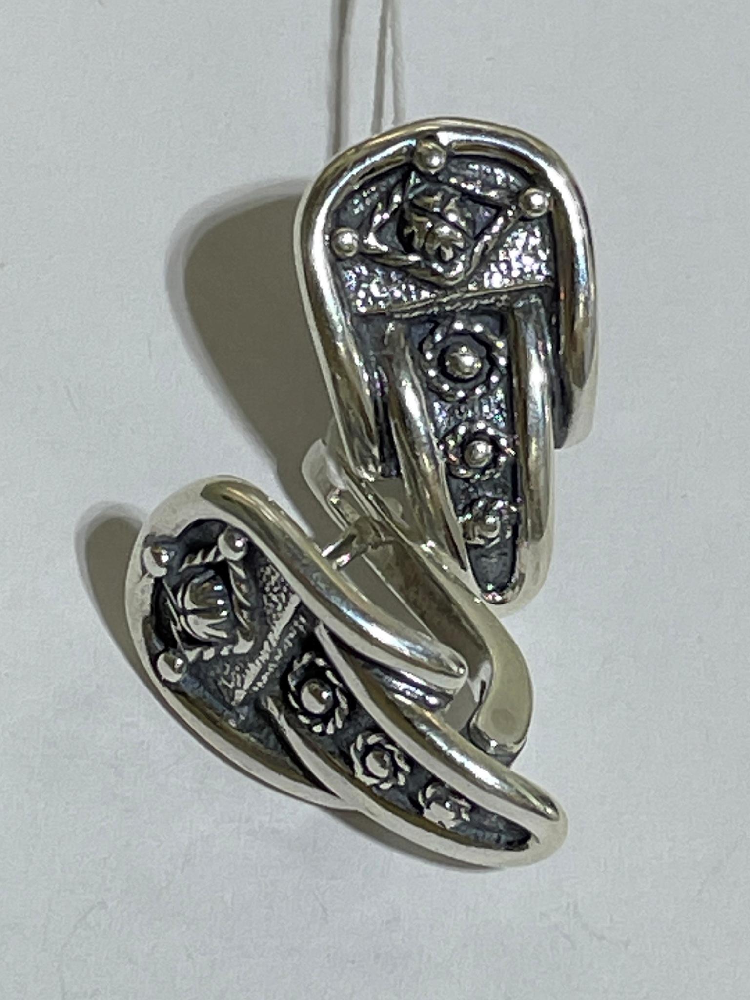 Ремень (серьги из серебра)