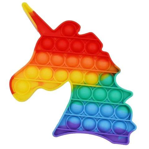 Поп Ит Игрушка антистресс Вечная пупырка Попит 15,5 х 16,5 см разноцветный единорог POP IT