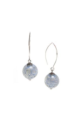 Серьги Perla Grazia серебристо-голубые (Ca'd'Oro)