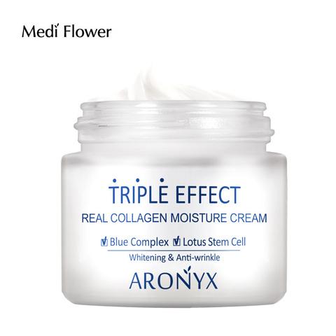 Medi flower Aronyx Triple effect Moisture cream Тройной эффект Крем для лица с морским коллагеном 50мл