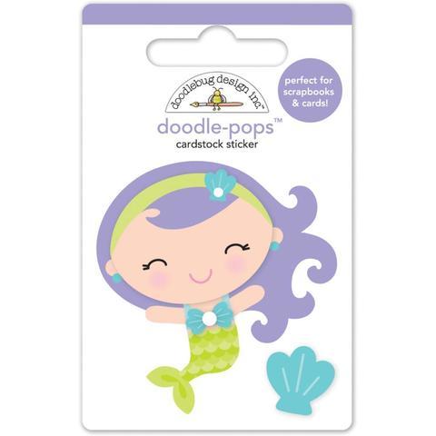 Паф-стикер Маленькая русалка Doodlebug Doodle-Pops 3D Stickers