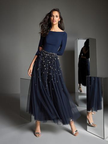 Вечернее платье классическое с юбкой-миди