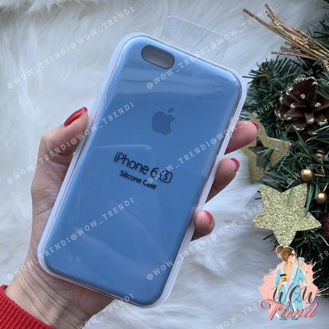 Чехол iPhone 6/6s Silicone Case /azure/ джинс 1:1