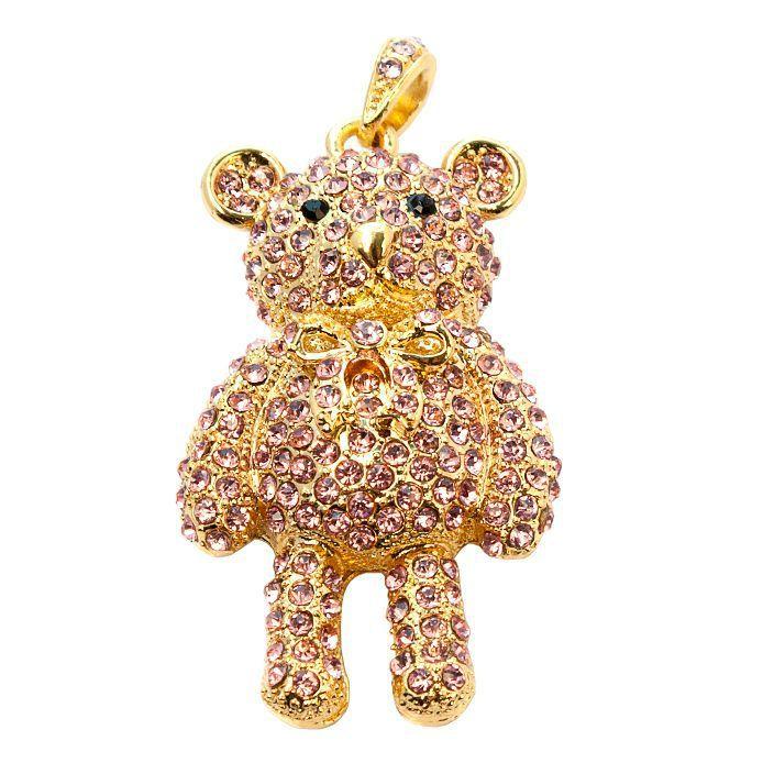usb-флешка мишка плюшевый золотой оптом
