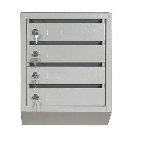Ящик почтовый КП-4 4-секционный металлический серый (380x190x500 мм)
