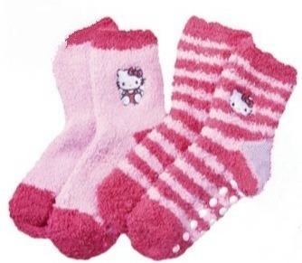 Носки детские с силиконовой подошвой 2 пары Hello Kitty