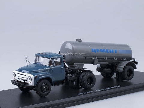 ZIL-130V1 early with semitrailer TC-4 Cement gray Start Scale Models (SSM) 1:43