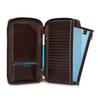 Мультипортмоне Piquadro Blue Square, коричневое, 14x22,5x2,5 см