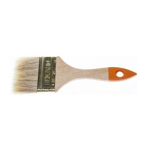 Кисть флейцевая DEXX, деревянная ручка, натуральная щетина, индивидуальная упаковка, 75мм
