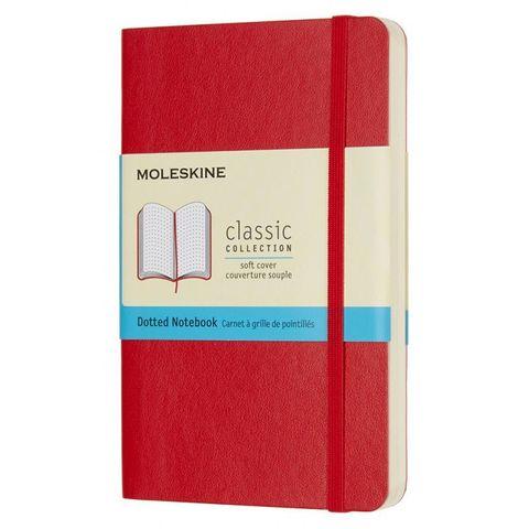 Блокнот Moleskine CLASSIC SOFT QP614F2 Pocket 90x140мм 192стр. пунктир мягкая обложка красный
