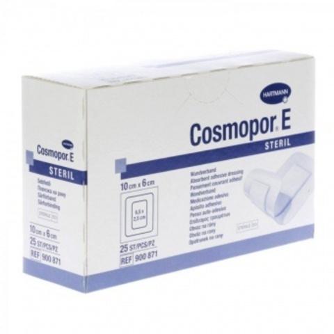 Космопор Е Стерил - Cosmopor E Steril, пластырная повязка с подушечкой, 10х6 см