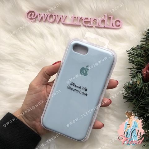 Чехол iPhone 7/8 Silicone Case /sky blue/ светло-голубой 1:1