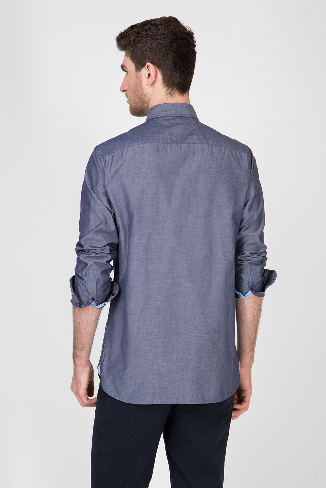 Мужская синяя рубашка NATURAL SOFT POPLIN Tommy Hilfiger