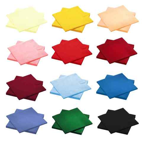 Салфетка однотонная 33см 16шт (цвет на выбор)