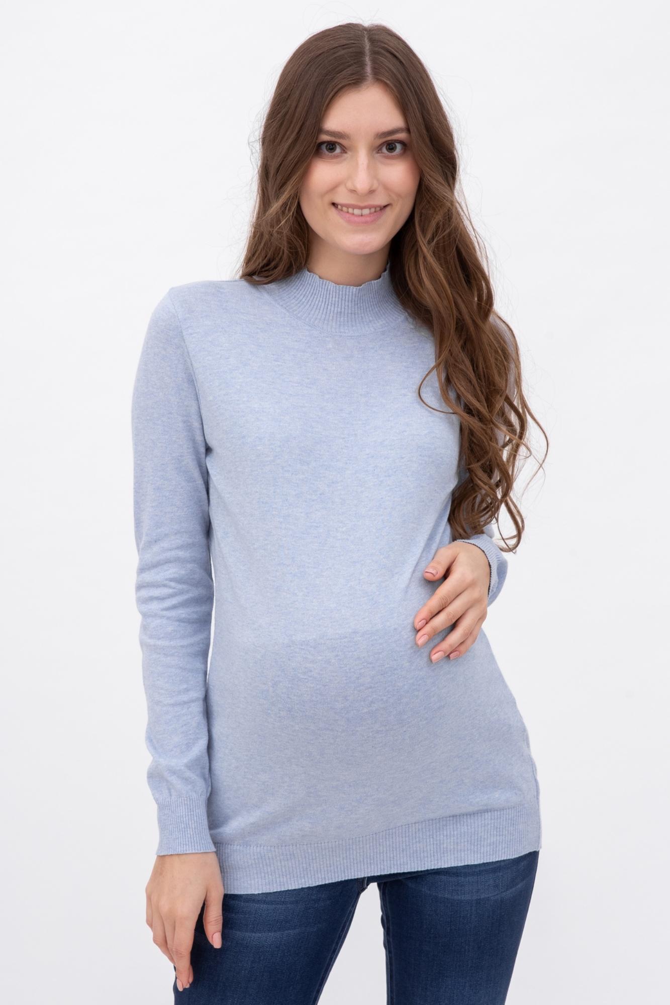 Водолазка для беременных 01905 голубой