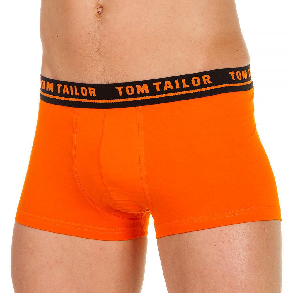 Трусы мужские хипсы оранжевые с черной резинкой и оранжевыми буквами Tom Tailor 230-1