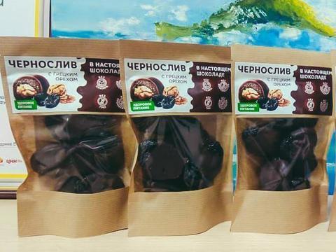 Чернослив с грецким орехом в ремесленном шоколаде на меду, 120 г