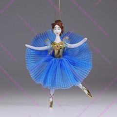 Ёлочная игрушка Балерина цветная