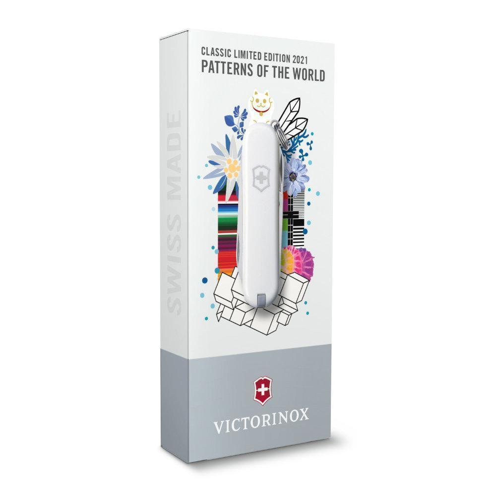 Каждый нож поставляется в красивой подарочной коробке   Victorinox Classic Limited Edition 2021