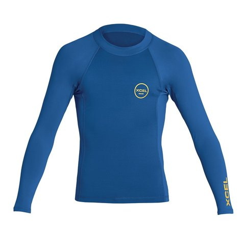 XCEL YOUTH PREMIUM STRETCH COLOR BLOCK LONG SLEEVE PERFORMANCE FIT UV
