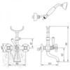 Смеситель для ванны с душем Migliore Princeton,  ML.PRN-802