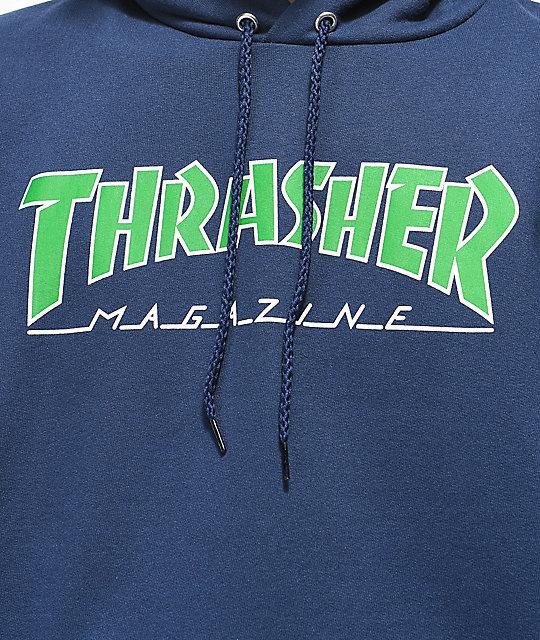 Толстовка с капюшоном THRASHER Outlined (Navy)