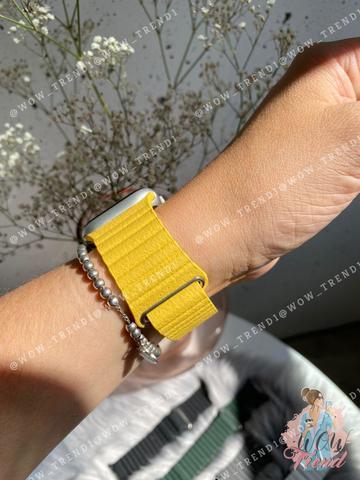 Ремешок Apple watch 38mm Leather Loop /yellow/
