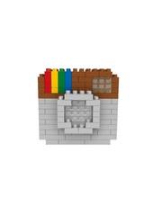 Конструктор Wisehawk & LNO Инстаграм камера 126 деталей NO. 077 Instagram Camera mini blocks