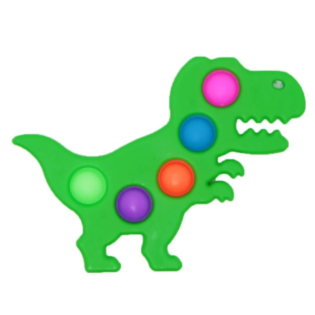 Пупырка вечная антистресс simple dimple (симпл димпл) брелок динозавр
