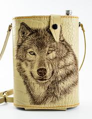 Фляга в кожаном чехле Волк, 2 л, фото 1