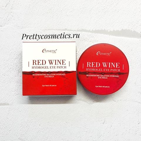 Esthetic House Гидрогелевые патчи для глаз краснове вино Red Wine Hydrogel Eye Patch 60 шт