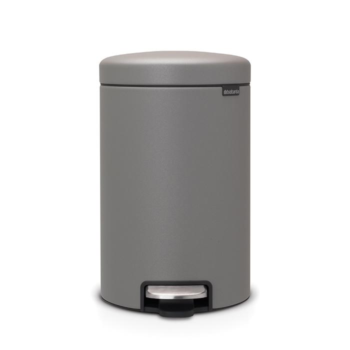 Мусорный бак newIcon (12 л), Минерально-серый, арт. 119149 - фото 1