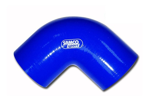 Силиконовый пайпинг 90 гр. Внутренний диаметр 80мм, цвет синий